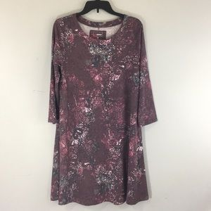 Sonoma Womens Super Soft Dress Long Sleeve Plum M